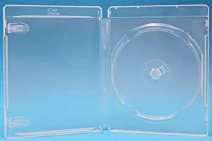 100 Empty Standard Clear Replacement Boxes / Cases for Single Blu-Ray Movies #DVBR12BRCL