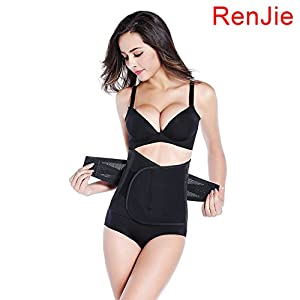 RenJie Waist Trimmer Shape Trainer Ab Sauna Belt One Size Fits up to 50 Inches