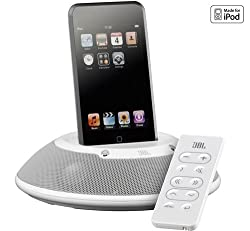 JBL On Stage Micro II Dock Speaker for iPod and iPhone (White)