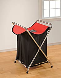 Swayam Fillz Rubberized Coated Cotton Laundry Bag - Red and Black (LB9-Red/Black)
