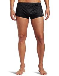 TYR Men\'s Poly Mesh Trainer Swim Suit (Black, 30)