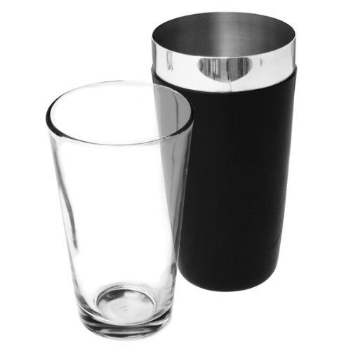Vinyl Boston Cocktail Shaker Black - Tin & Glass
