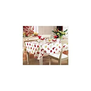 Paula Deen Fruit Vinyl Tablecloth 60 x 84 Oblong