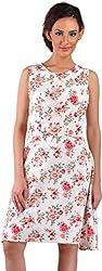 Mabyn Women's A-Line Dress (SSSSD16 _M, White, M)