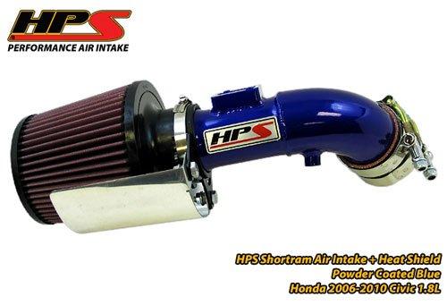 06-11 Honda Civic DX EX LX GX 1.8L BLUE HPS Short ram Air Intake Kit (07 Honda Civic Ex Cold Air Intake compare prices)