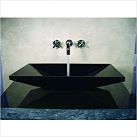 "Ronat Hand Carved Euro Vessel Sink in Black Size: 4.5"" H x 24"" W x 13"" D"