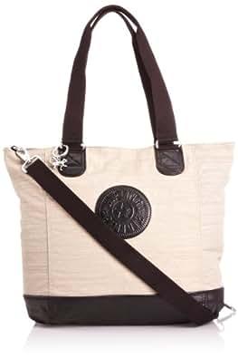 Kipling Shopper Combo, Cabas mode femme  - Beige (Beige Black C)