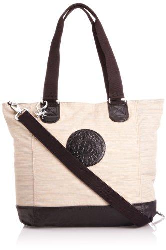 Kipling Women's Shopper Combo Tote, Beige Black C, K12272B47