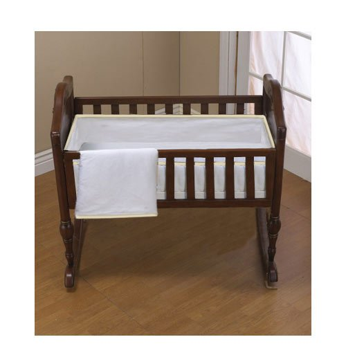 Baby Doll Bedding Forever Mine Cradle Set, Ecru