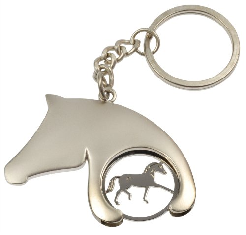 key-ring-tag-with-holder-for-trolley-token-silver-different-designs-choicehorsehead-with-horse