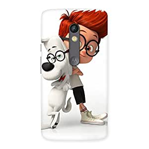 Gorgeous Boy and Spec Dog Multicolor Back Case Cover for Moto X Play