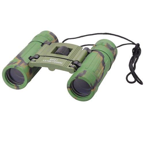 Compact 8X21 Mini Binoculars Telescope Sports Hunting Camping Survival Kit - Camouflage Green