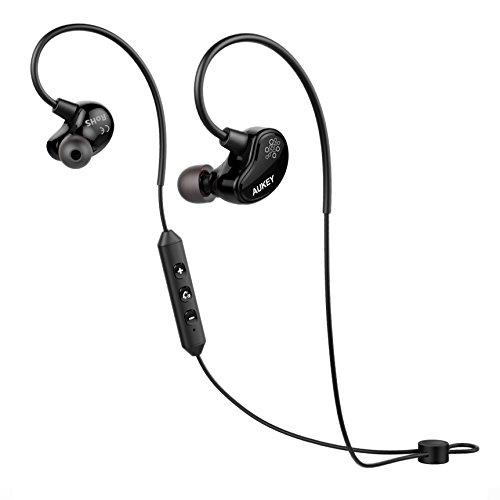 Aukey Bluetooth 4.1ステレオイヤホン ワイヤレス スポーツイヤホン aptX対応 ハンズフリー 通話 EP-B29