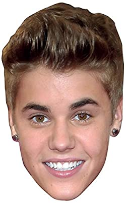 Justin Bieber Celebrity Mask, Cardboard Face and Fancy Dress Mask