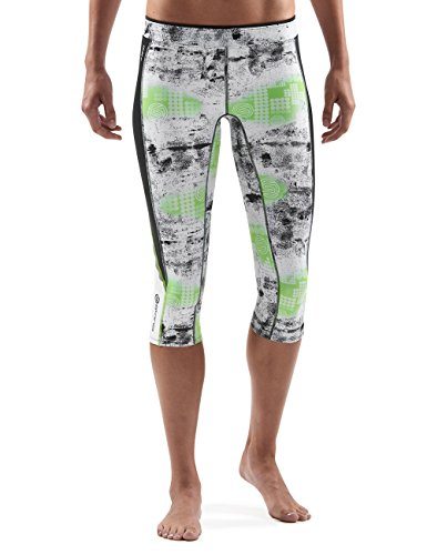 Skins A200Capri Women's 3/4-Length Tights Multi-Coloured lime Size:M