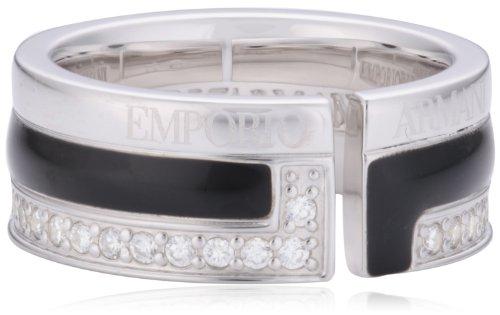 Emporio Armani Damen-Ring 925 Sterling Silber Emaille Zirkonia weiß Gr.56 (17.8) EG2641040-8