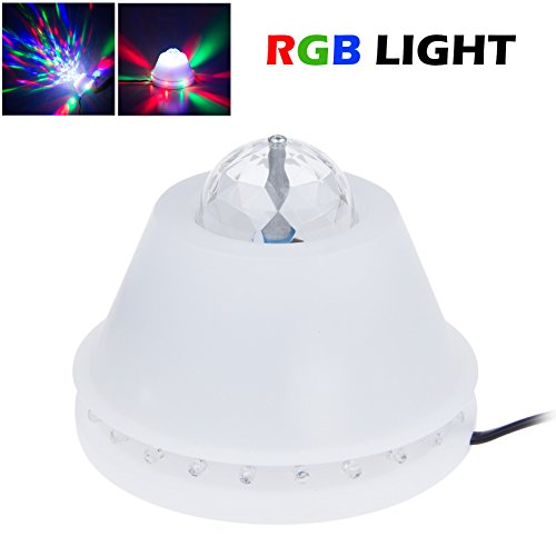 Lemonbest® Bright Rgb Stage Led Disco Sun Light Color Changing Rotating Rgb Downlight Decoration Lamp 110V For Home Party Ktv Nightclub Bar