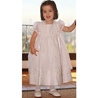 Angels Garment Preemie White Christening Baptism Dress Gown Size 0
