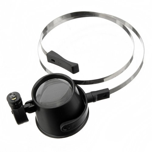 Water & Wood Led 15X Magnifier Eye Loupe W/ Head Band Jewelers Magnifying Glass Watchmakers