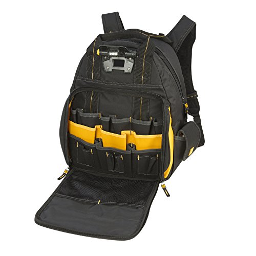 Dewalt Dgl523 Lighted Tool Backpack Bag 57 Pockets