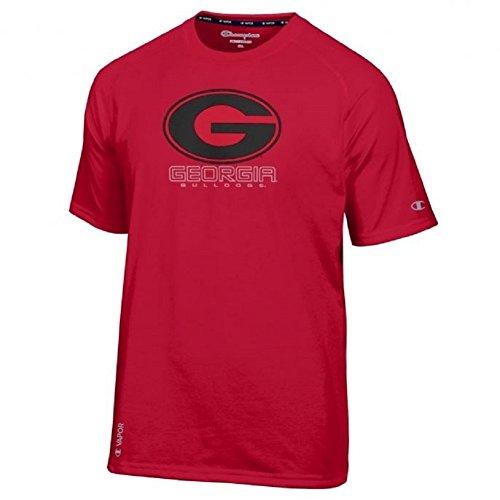 Champion NCAA Mens Vapor Dry T-Shirt-Georgia Bulldogs-Red-Medium (Mens Champion Watches compare prices)