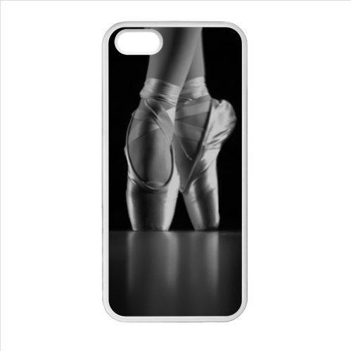 """Ballet Shoes """"-Pointe, goodly Ballerina danzante, motivo scarpetta da danza, in plastica e TPU (tecnologia Laser) per iphone 5 e 5s"""
