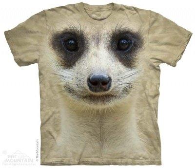 Meerkat Face The Mountain Tee Shirt Child S-Xl Adult S-Xxx