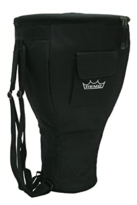 """Remo Bag, 12"""" Djembe, Strap, Carrying Handle, Pocket, Deluxe Black"""