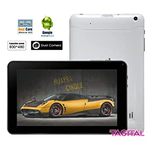 "Tagital® 9"" Android 4.2.2 A23 Dual Core Dual Camera Tablet PC Play Store Pre-installed (Enhanced Version of A13) from MTM Trading LLC"