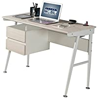 Techni Mobili Modern Computer Desk With USB Drive Port And Storage (Ash)