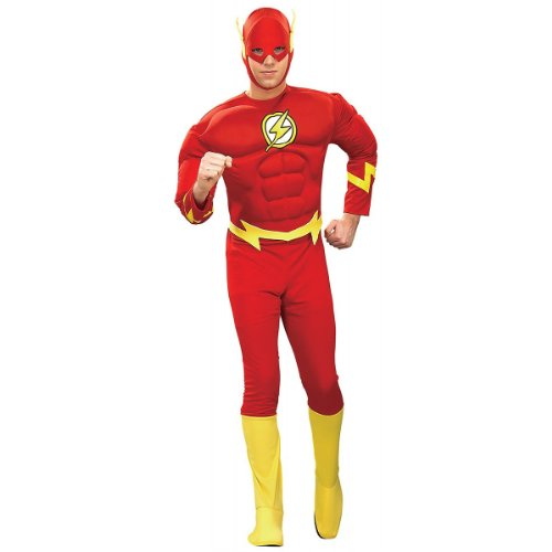 Deluxe The Flash Muscle Chest Costume - Large - Chest Size 42-44