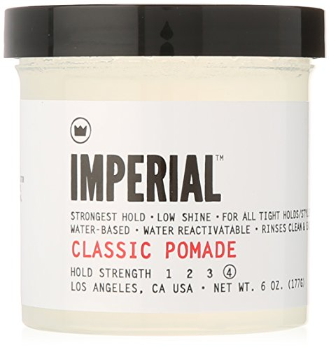 Imperial Barber Products Classic Pomade 6oz Jars (Pack of 2 + Comb)