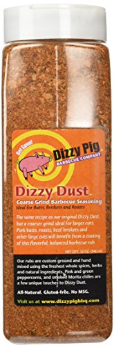 Dizzy Pig Dizzy Dust Coarse BBQ Rub Seasoning Spice - 32 Ounce Quart Shaker Bottle (Dizzy Pig Bbq compare prices)