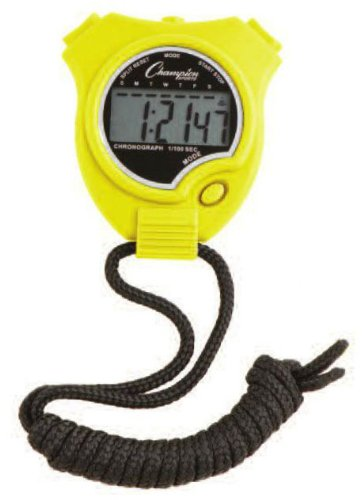 Champion Sports Stop Watch (Colors May Vary)