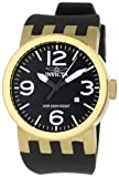 Invicta Men's 0852 Force Collection Gold/Black Polyurethane Watch