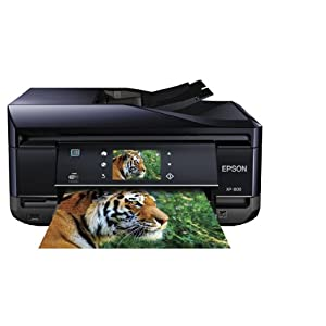 Epson Expression XP-800 Wireless Small-in-One Color Inkjet Printer, Copier, Scanner, 2-Sided Duplex, ADF, Fax. Prints from Tablet/Smartphone. AirPrint Compatible (C11CC45201)