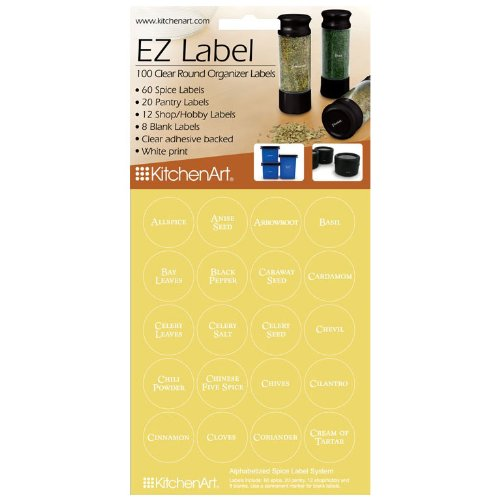 100 Round EZ Spice Labels - with White Print