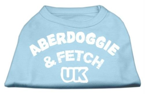 Mirage Pet Products 16-Inch Aberdoggie Uk Screenprint Shirts, X-Large, Baby Blue front-52855