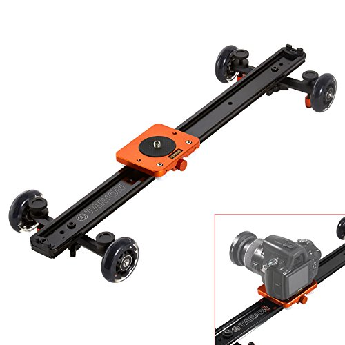 TARION® TR-SD60 60cm Videoschiene Dolly Kamera Video Rail Slider Schiene Kamerawagen für Kamerafahrt mit DSLR, Video und Camcorder (Kamerafahrt bis zu 60cm!!!)