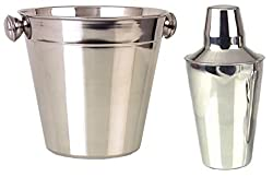 Mayur Exports Stainless Steel Ice Bucket with Cocktail Shaker