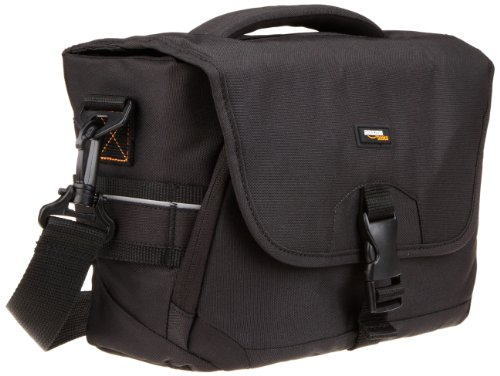 AmazonBasics Medium DSLR Gadget Bag (Orange interior)