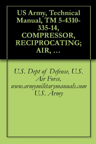 US Army, Technical Manual, TM 5-4310-335-14, COMPRESSOR, RECIPROCATING; AIR, WHEEL MTD, 2-WHEEL, PNEUMATIC TIRES, GED, 4 CFM; 3,000 PSI, (210.9000 KGS ... military manauals, special forces