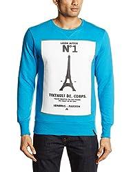 Tiktauli de Corps Men's Crew Neck Cotton Blend Sweatshirt (8904203017723)