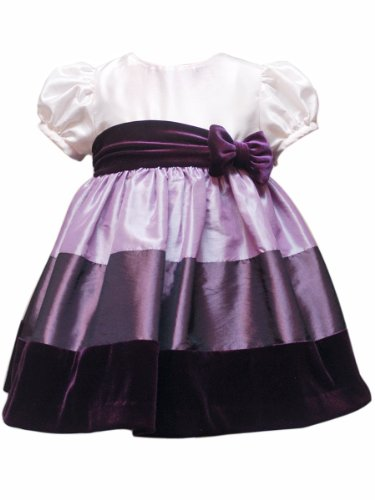 Rare Editions Baby Baby Girls Infant Color Block Taffeta