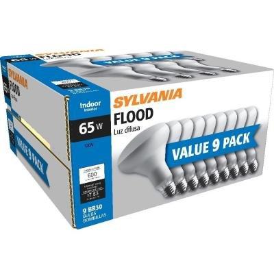 Sylvania 65 Watt BR30 Flood Light Bulbs 9-Pack (Indoor Flood Light Bulbs compare prices)