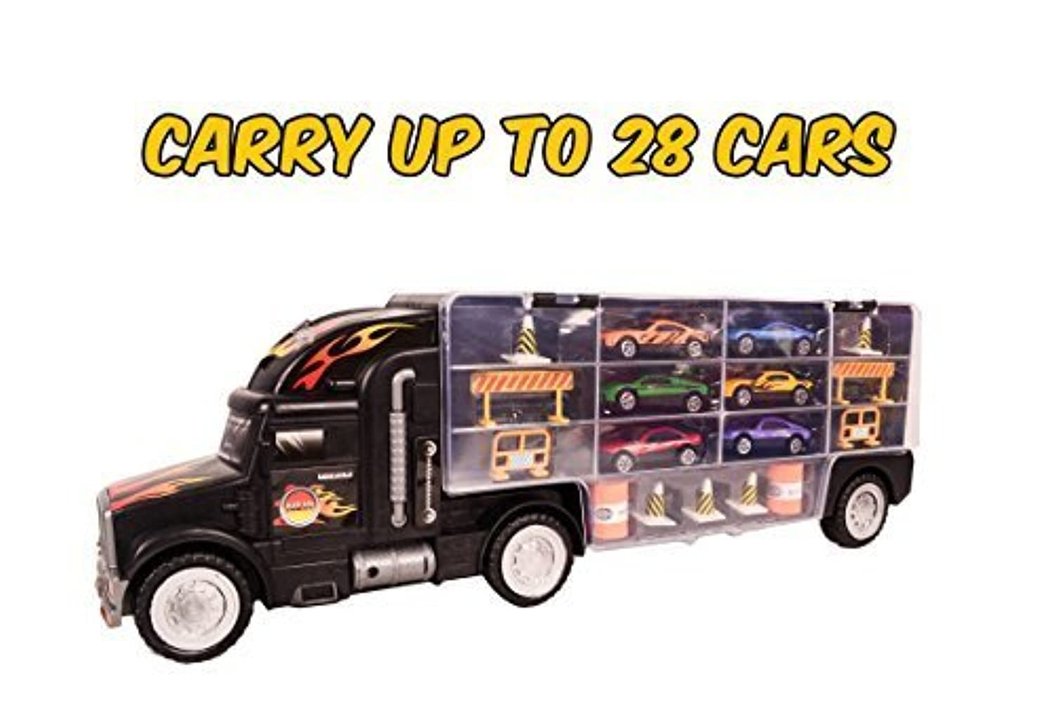 Toy Car Holder Truck : Long carrier truck toy car transporter includes metal