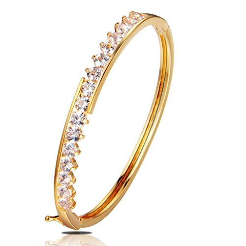AMDXD 18k Gold Plated Womens Slender Crystal