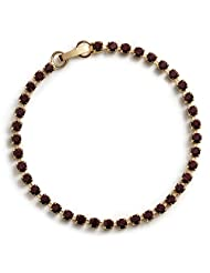 Sale - Ruby Crystal Diamante Bracelet in Swarovski Crystal - Gold Finish - Red Swarovski Bracelet