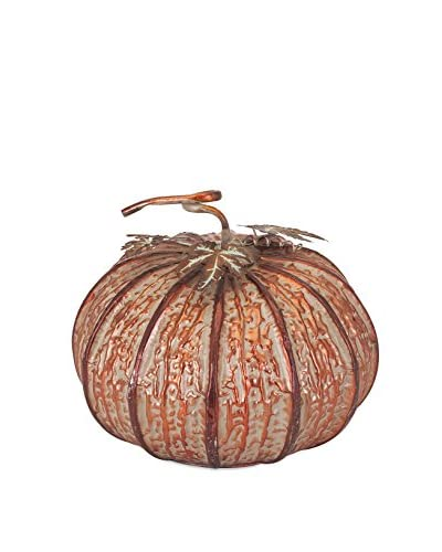 Benzara Enthralling Easton Copper Pumpkin, Medium