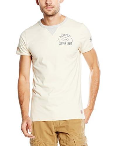 Superdry T-Shirt Copper Label Utah-S/S Bound Te elfenbein